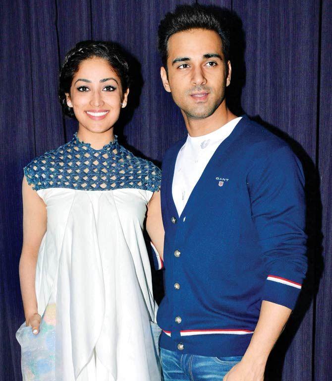 Yami Gautam and Pulkit Samrat while promoting #SanamRe. #Bollywood #Fashion #Style #Beauty #Hot #Sexy