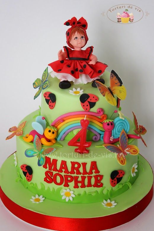 Tort cu buburuze si fluturasi pentru Maria Sophie