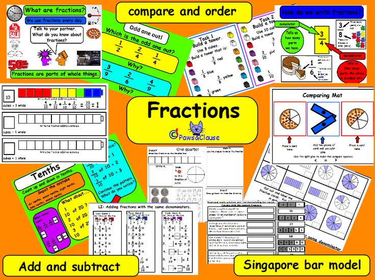 Fractions for KS1 & KS2 (Including a few Singapore Bar Model worksheets.) Lots of practical worksheets, task cards and activities.