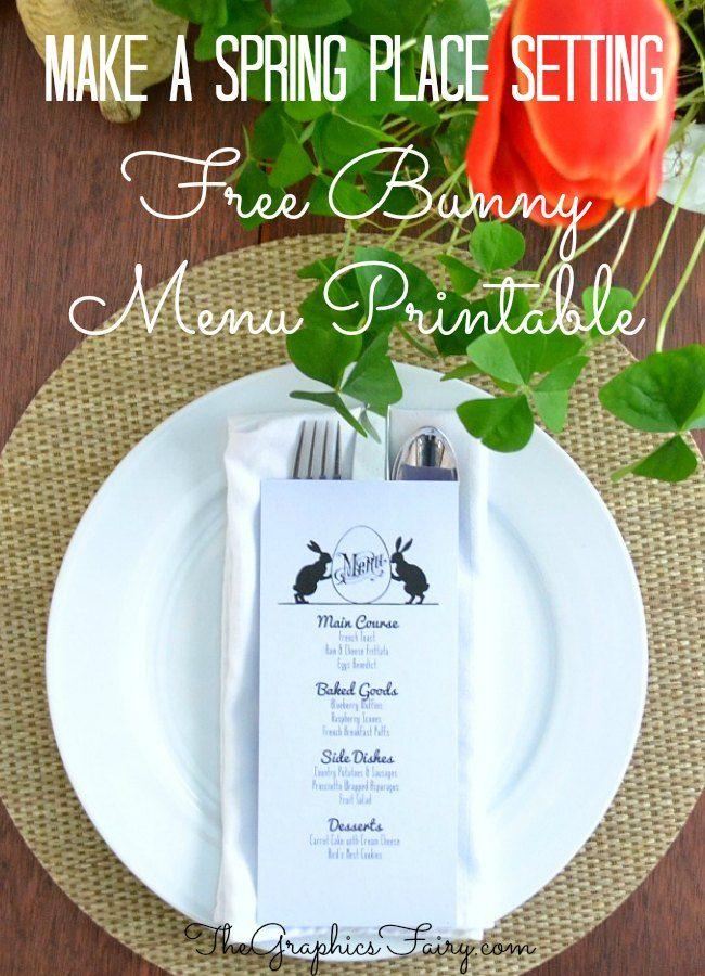 Bunny Menu Template | DIY Creative Ideas | Pinterest ...