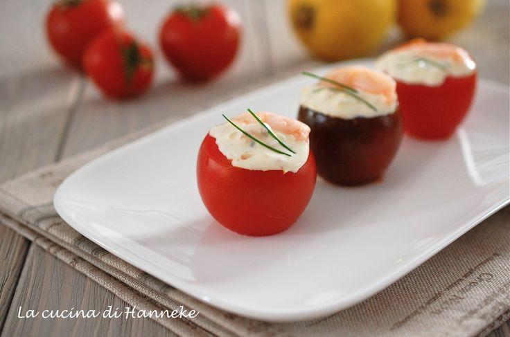 Pomodori ripieni ai gamberetti