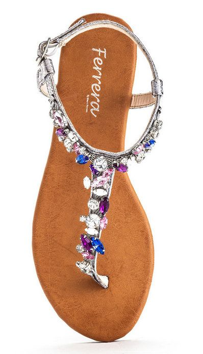Silver Rhinestone Queen T-Strap Sandal, I need those