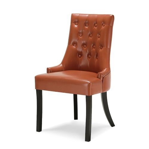 Uberlegen IKayaa Antique Style Scoop Back Tufted Küche Esszimmer Stuhl PU Leder  Gepolstert Akzent Stuhl Side Wohnzimmer