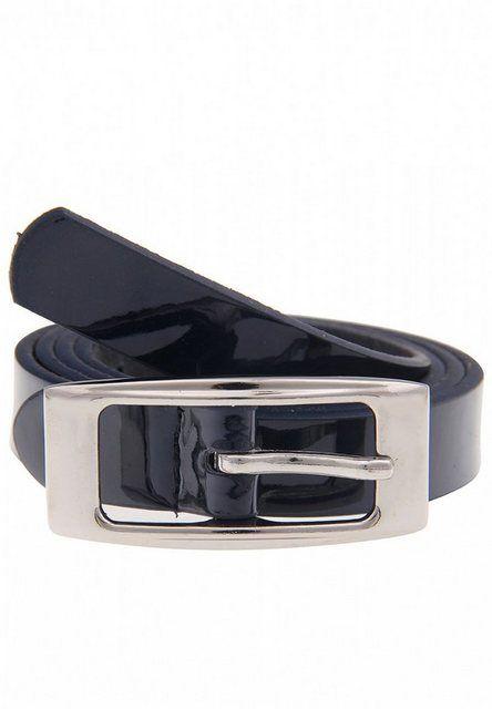 Leder-Gürtel mit Druckknopfverschluss schwarz bis 130cm