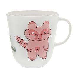Pentik. Bongo-muki, kissa. Punainen, 0,3 l. 19,50 €.