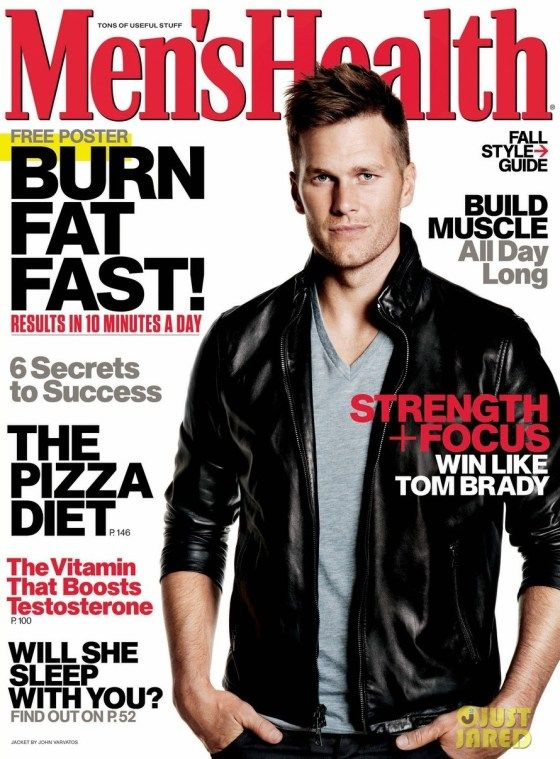 Tom Brady Rocks a Leather Jacket on the Cover of 'Men's Health' September 2013! (JOSALYNMONET.com)