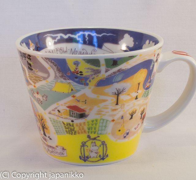 """Muumimuki """"Soup mug"""" -sarja (kartta) Yamaka, japanikko"""