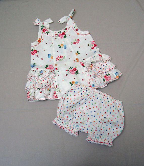 Sewing pattern SUNNY DRESS & BLOOMERS girls dress pdf sewing pattern sizes 6…