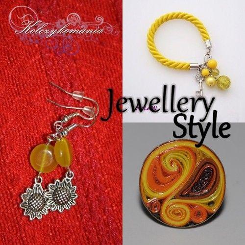 Jewellery Fashion | kolczykomania  Stylizacja biżuteryjna: W kolorze słońca  pierścionek - http://kolczykomania.com/produkt/artystyczny-pierscionek-wykonany-techni... kolczyki - http://kolczykomania.com/produkt/sloneczniki-0 bransoletka - http://kolczykomania.com/produkt/key-heart-zolta  Autor: IMP