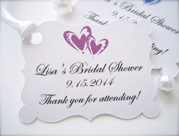 Wedding Shower Thank You Gifts: Bridal Shower Favor Tags, Thank You Tags, Personalized