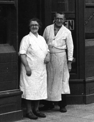 My (paternal) Grandparents - Ernest William & Ethel (nee Newton) Moss - photo taken Tottenham, London - 1950
