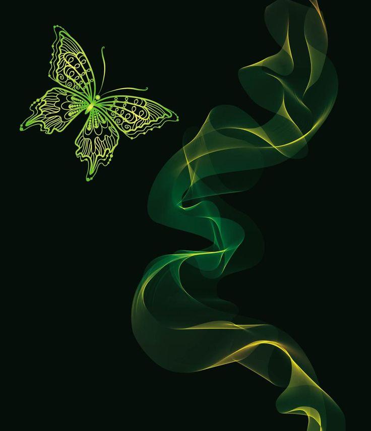 Brilliant Neon Butterfly Vector