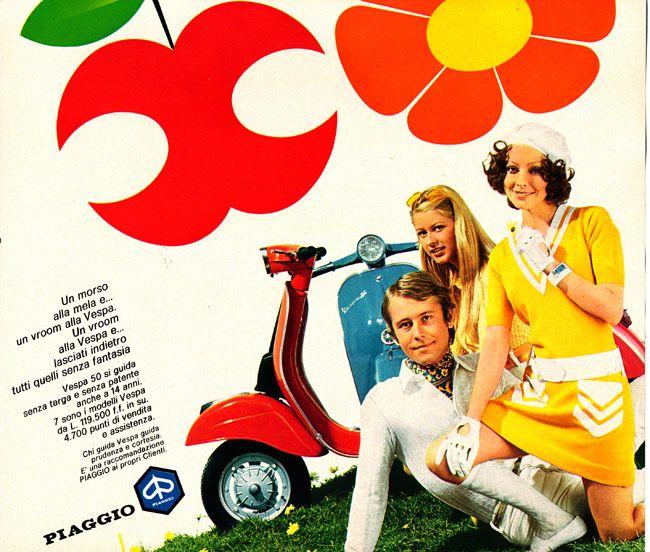Chi Vespa mangia le Mele - die Werbekampagne der 70er Jahre - Klassik Szene-Blog Vespa & Lambretta - SIP Scootershop Community