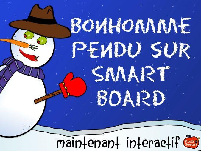 Bonhomme de Neige Pendu INTERACTIF // Smart Board