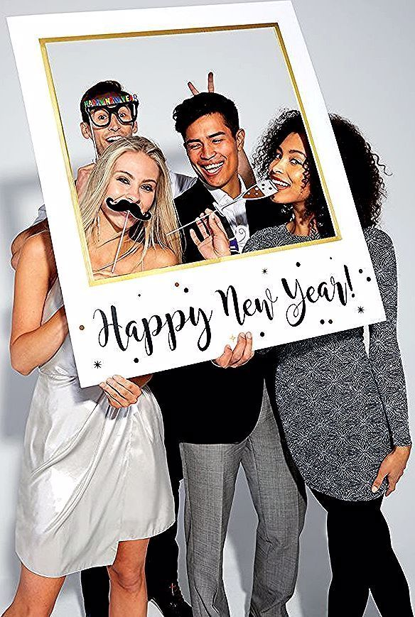 This New Year S Eve Photo Booth Frame Would Be Perfect For Your New Year S Eve Party Pick It Up At Party In 2020 New Years Eve Party New Years Eve New
