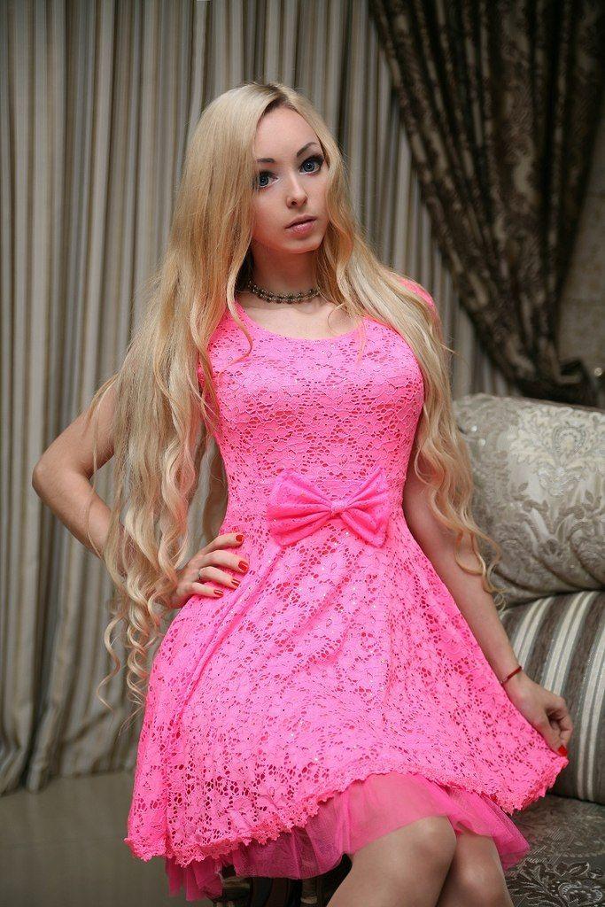 Long wavy hair -- blonde (Alina Kovalevskaya)   - PINK INK