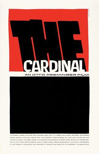 The Cardinal 1963, dir. Otto Preminger. Saul Bass