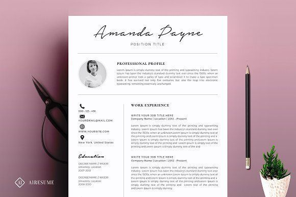 Minimal Resume/CV Template by A1RESUME on @creativemarket Ready for Print Resume template examples creative design and great covers, perfect in modern and stylish corporate business. Modern, simple, clean, minimal and feminine layout inspiration to grab some ideas.