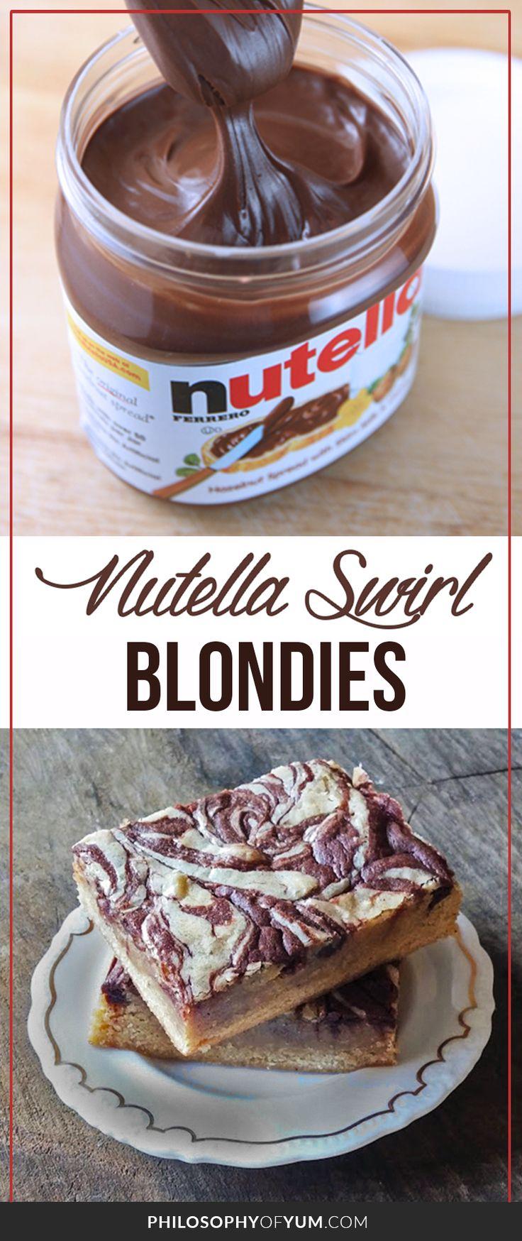 nutella blondies | nutella brownies | nutella recipes