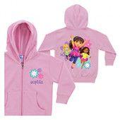 Dora and Friends Flower Girls Pink Zip-Up Hoodie
