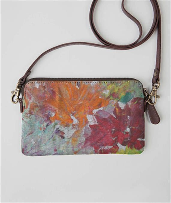 statement clutch  Minibag for women   canvas and leather