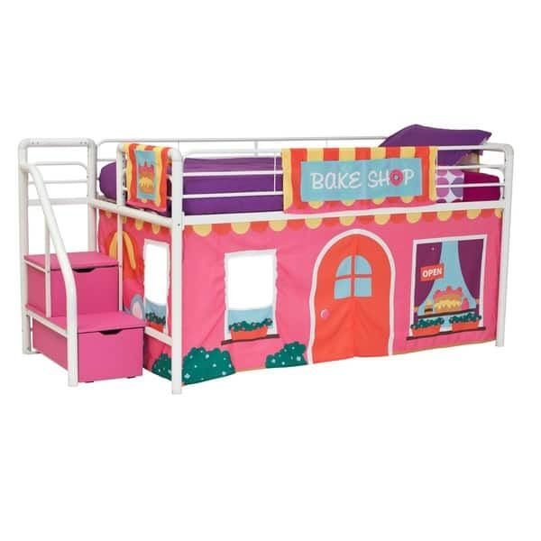 Dhp Loft Bed Curtain Set Loft Bed Rustic Bedroom Furniture Dhp