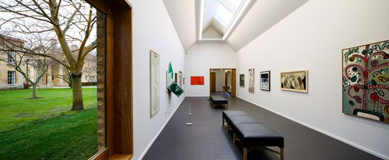 Heong Gallery, Downing College, Cambridge. Saw a good exhibition - Generation Painting 1955-65: British Art from the Collection of Sir Alan Bowness. Architects Caruso St John