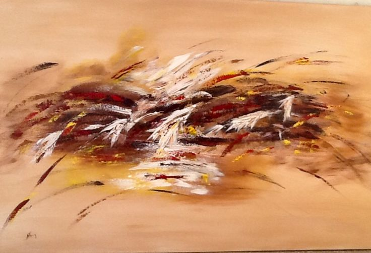 Abstract painting palette knife home decor abstract art contemporary by noni pulga