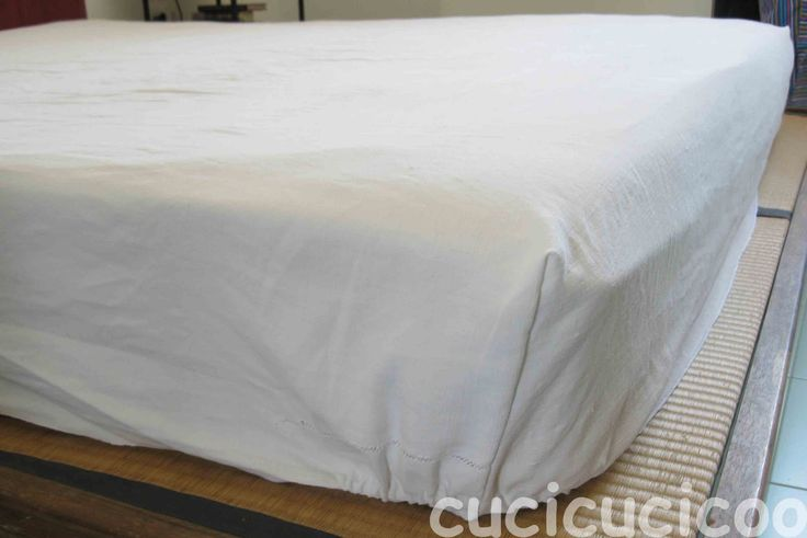 how to sew corners on a bed sheet