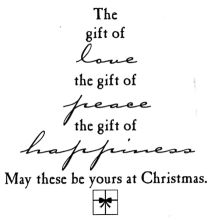 Catalog: Christmas - Verses Rubber Stamps