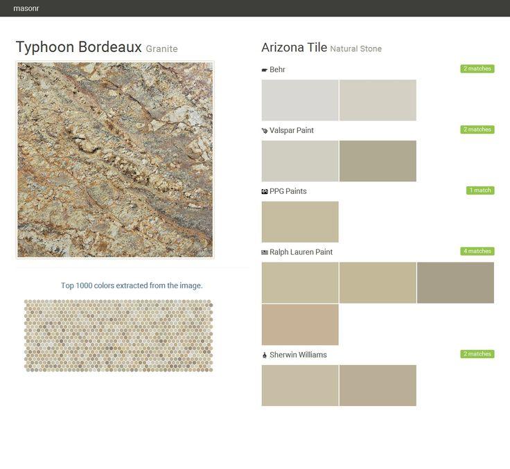 Typhoon Bordeaux Granite Natural Stone Arizona Tile Behr Valspar Paint Ppg Paints Ralph Lauren Paint Sherwin Williams Click The Gray Visi