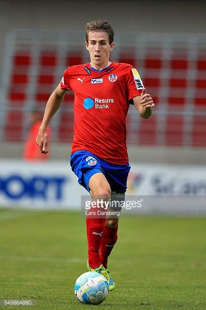 Adam Eriksson of Helsingborgs IF during the Allsvenskan match between Helsingborgs IF and Elfsborg at Olympia on July 10 2016 in Helsingborg Sweden