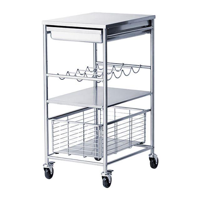 Ikeaの キッチンワゴン を趣味用のサイドデスクに マイ定番スタイル キッチンワゴン アップサイクル 家具 狭い棚