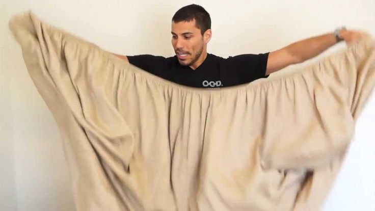How to Fold a Fitted Sheet in 30 seconds (OCD Experience Way)