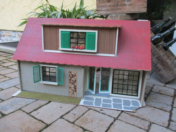 altes 60er jahre ddr albin sch nherr puppenhaus zum herrichten ebay doll houses pinterest. Black Bedroom Furniture Sets. Home Design Ideas