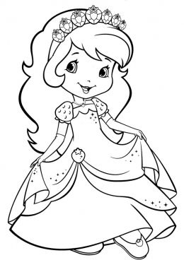 coloring page strawberry shortcake