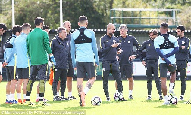 Guardiola addresses his team ahead of their Saturday afternoon fixture at Liberty Stadium