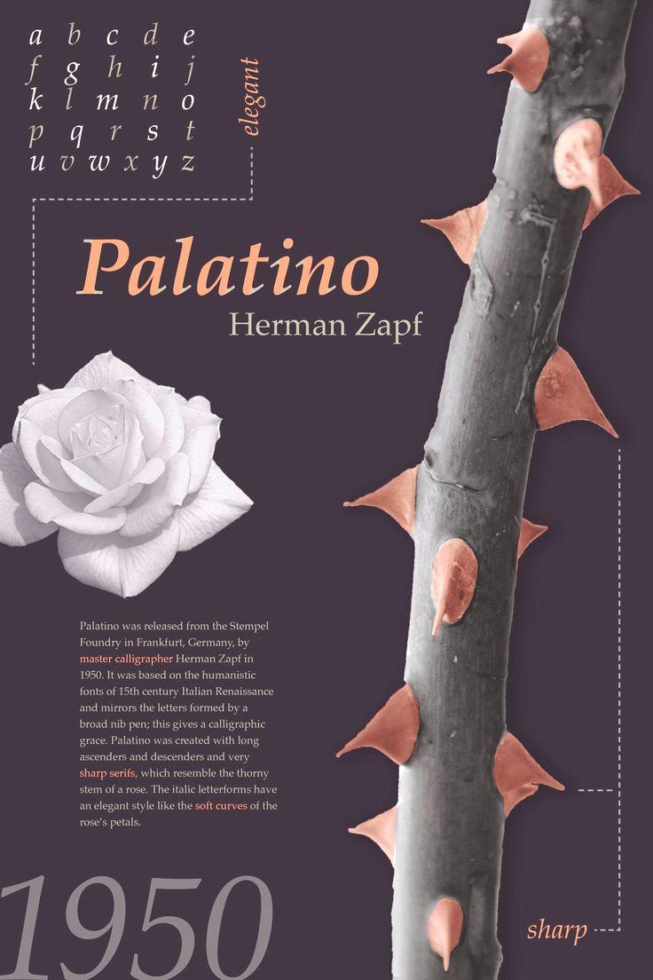 Palatino Serif Garalde 1950 Hermann Zapf