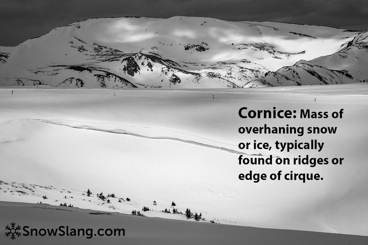 Cornice: beautiful but potentially deadly http://snowslang.com/snow-cornice-definition-photos-skiing/