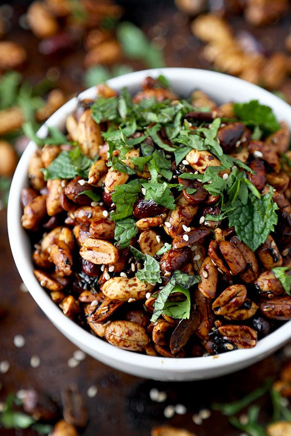Sticky, sweet vinegar peanuts make the most amazing party snack! Eat them warm or cold, these sweet and sour peanuts only take 15 minutes to make!:
