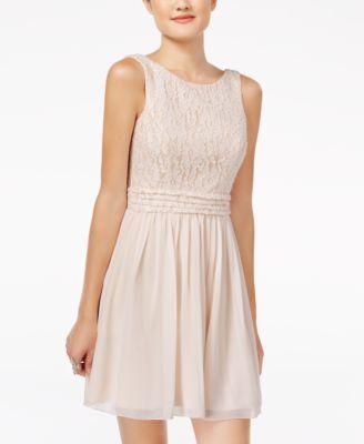 Speechless Juniors' Glitter Lace Party Dress A Macy's Exclusive   macys.com