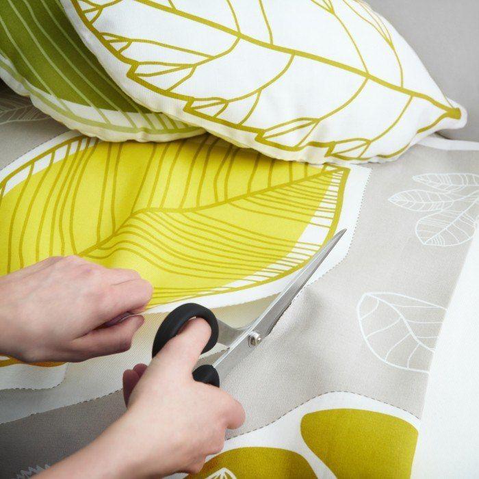 #diy : des coussins à partir des tissus #ikea #cushions