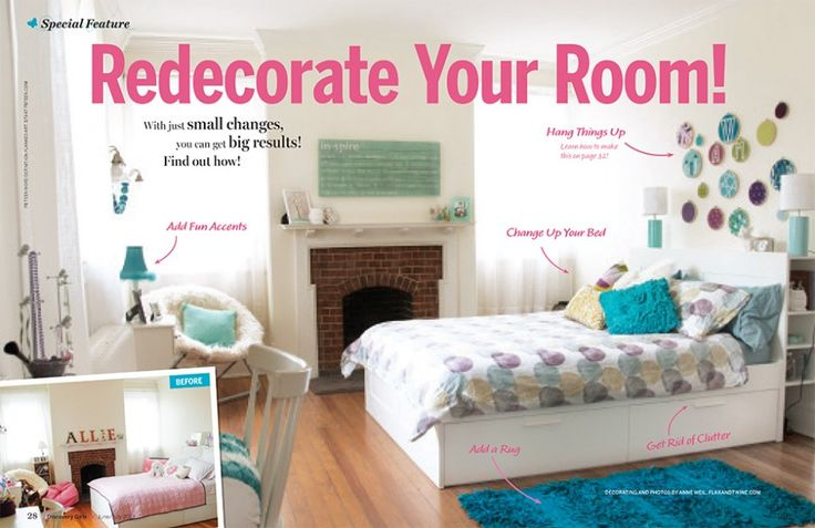 Inside this month 39 s issue great ideas from discovery Re decorate your room ideas