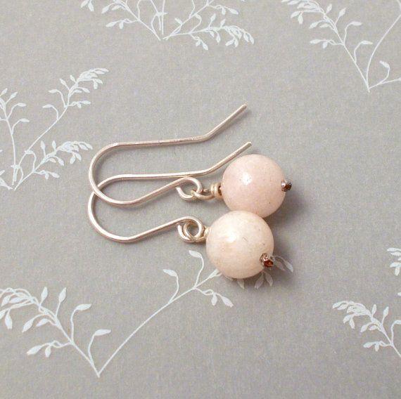 Morganite earrings, soft pink gemstne earrings, morganite dangle earrings, morganite silver earrings