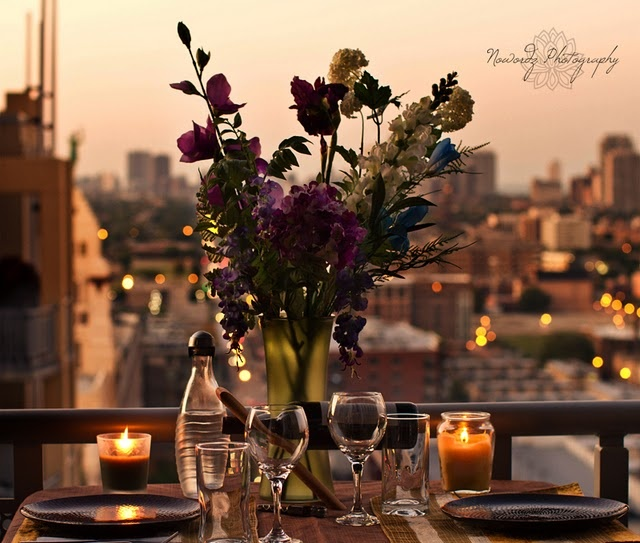 Image result for balcony dinner for two