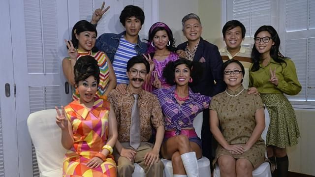 The cast of Hotpants, a 70s musical comedy directed by Dick Lee. http://www.straitstimes.com/performing-arts-in-singapore Photo: Desmond Foo/The Straits Times