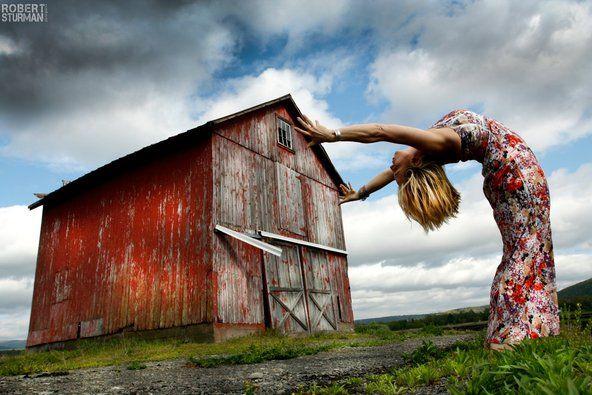 Robert Sturman / Turning Yoga Into Art - NYTimes.comRivers Valley, Yoga Poses, Hudson Valley, Robert Sturman, Yoga Photography, Turn Yoga, Barns Backbend, Red Barns, Hudson Rivers