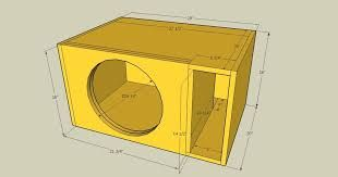 Image result for subwoofer box design for 12 inch