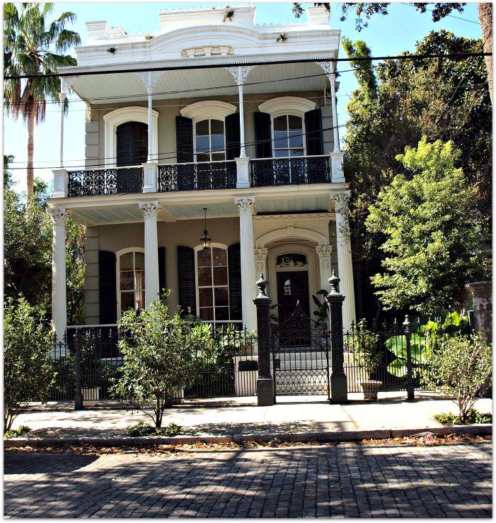 Historic home on cobblestone street near Coliseum Square in the Lower Garden District.