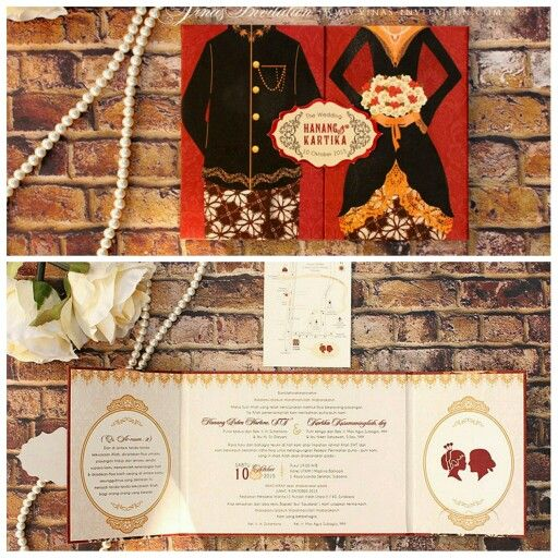Vinas invitation . Traditional. Wedding invitation. Wedding design . Flower theme. Shabby chic design. Any question pls visit us at website www.vinasinvitation.com.  Courtesy of Hanang & Kartika